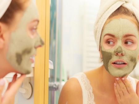 Starostlivost o pleť - zelená pleťová maska